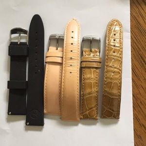 Set of three size 18mm Michele Watch Bands